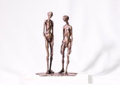 Bronzeskulptur Die Gefährten